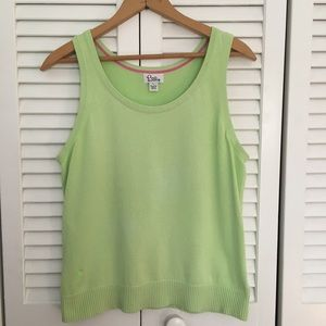 Lilly Pulitzer green sleeveless tank top